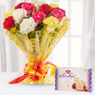 Soan Papdi and Carnations