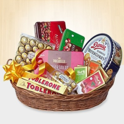 Basket of All Imported Chocolates