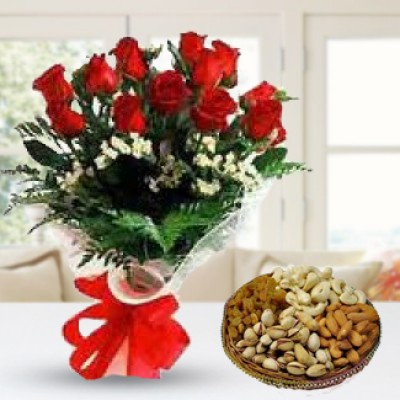 Red Rose & Dry Fruits